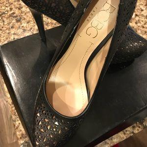 Bcbg Paris black and bronze heels size 9
